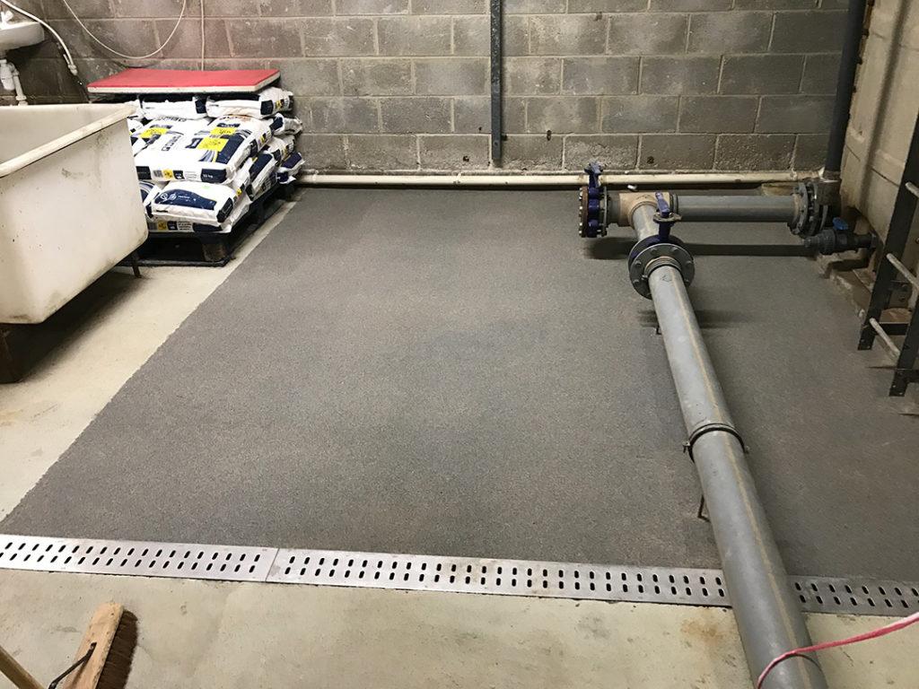 resurfaced floor