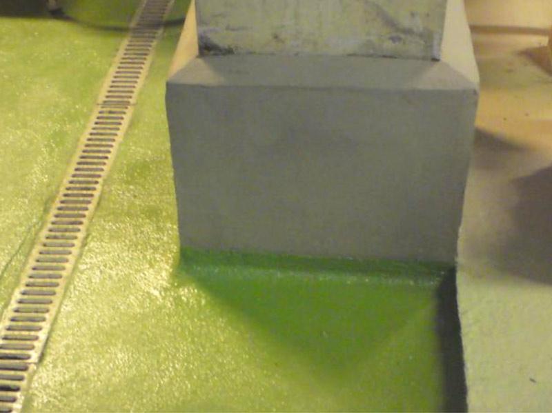 finished concrete pillar repair