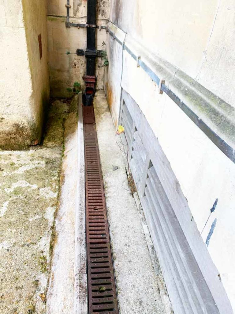 failing drainage at St Michael's abbey